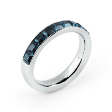 Anello Brosway Tring Btgc48 Energia acciaio Cristallo Blu Montana misura 18