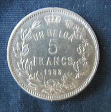 Munt België/Belgique: 5 FRANCS 1933 Pos.B (franse legende)