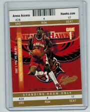 2003-04 FLEER AUTHENTIX KWAME BROWN #44 STANDING ROOM ONLY 16/25 WIZARDS