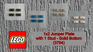 LEGO - Used Condition - 1x2 Jumper Plate with 1 Stud - Solid Bottom (3794) x 4