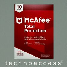 MCAFEE TOTAL PROTECTION 2018 10 DEV 1 YR RETAIL VERSION GENUINE (DOWNLOAD ONLY)