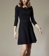 Karen Millen Lace Bardot Mini Dress Large UK Size 16