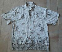 Vintage The Disney Catalog Mens Hawaiian Rayon Shirt Mickey Mouse Surfboards XL