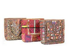 5 PCs Lot Indian Vintage Embroidered Tote Bag Women Large Shoulder Bag Handbags