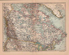 Antique map. NORTH AMEICA. CANADA. c 1905
