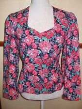 Pretty vintage laura ashley floral short jacket in a size 12