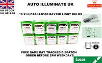 LUCAS LLB380 P21/5W CAR BULBS BAY15D STOP BRAKE TAIL SIDE LAMP 380 12v 10 PACK