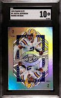 2020 Panini Donruss Elite Justin Jefferson Rookie on Deck RC #9 SGC 10 Comp PSA