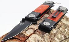 """8"""" Tac-Force-Snake-Eye-Hardwood-German-Style-Dagger-Spring-Assisted-Pocket-Knife"""
