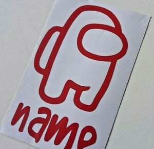 AMONG US NAME DECAL. PERSONALISED. big 6 Inches Choose colour.  Style A ✨