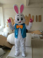 2017 New Easter Bunny Mascot Costume Rabbit party game Fancy Dress Adults Size