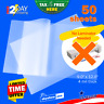 """50Pcs Clear 4Mil Self-Adhesive Laminating Sheets 9"""" x 12"""" Letter Size Self-Seal"""