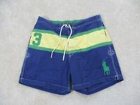 Ralph Lauren Polo Swim Trunks Adult Extra Large Blue Bathing Suit Shorts Men B35