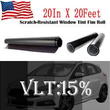Black 15% Car Auto Window Tint Film Roll House Glass Cover Tinting 50cm x 6m Hot