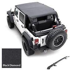 2007-2017 Jeep Wrangler Unlimited Safari Extended Bikini Top & Channel Kit Black