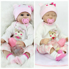 22'' Reborn Baby Doll Silicone Handmade Newborn Girl Open/Closed Eyes XMAS Gift