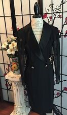 VTG 90 BB COLLECTIONS WOM 10 SHEER SLEEVE SATIN COLLAR EVENING DRESS MAGNIFICENT