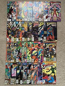 DC Comics Lot of 33 SUPERMAN 80's-90's VF/NM Few Keys Only 1 Dollar each