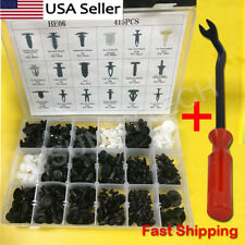 415pcs Plastic Rivets Fastener Fender Bumper Push Pin Clips Set + Remover Tool