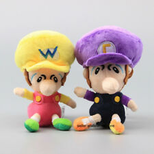 "2X Wario & Waluigi Baby 5.5"" Super Mario Bros. Plush Doll for kids Toys Gifts"