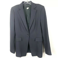 J Crew Blazer Gray One Button Wool Jacket Lined Women's Size 6
