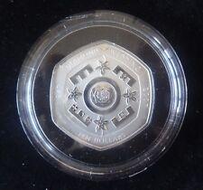 2007 SILVER PROOF FIJI $10 COIN + COA DIAMOND WEDDING ANNIVERSARY ROYAL MINT