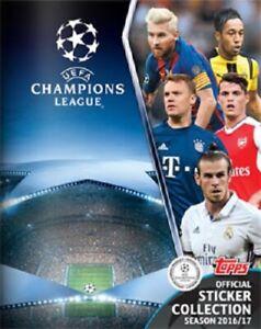 Topps 2016/17 Champions League stickers foils 2017