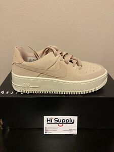 Nike Womens Air Force 1 Sage Low Particle Beige Size 8.5 AR5339 201