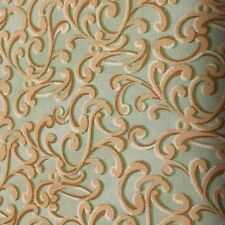 How Great Thou Art 100% cotton fabric by the yard SAGE Scroll design Sage & Gold