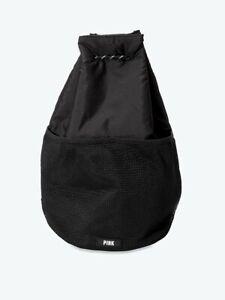 Victoria's Secret Pink Black Drawstring Bag New!!!