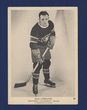 1939-40 O-Pee-Chee V301-1 Rod Lorraine #23 Montreal Canadiens (5 X 7) Card !