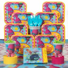 Trolls Birthday Kit Standard Tableware Party Design Decoration Supply (Serves 8)