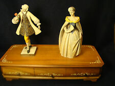 Vintage Anri Victorian Couple Reuge 36 Note Music Box Italian & Swiss Made (#H)