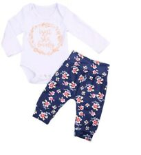 Baby Girl Long Sleeve Isn't She Lovely Romper Floral Pants Size: 6-12 Months NWT
