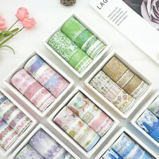 10 рулонов/упаковка Васи ленты самодельный декоративная Бумага для скрапбукинга клей наклейка ремесло
