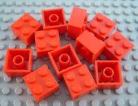 New LEGO Lot of 12 Red 2x2 Creator Basic Building Bricks