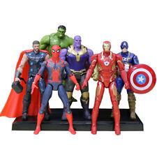 6pcs Avengers 3 Infinity War Thanos Iron Spiderman Captain Thor Hulk Figures Set