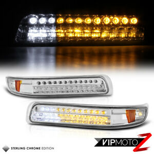 1999-02 Chevy Silverado LED Clear Front Bumper Parking Corner Lamp Signal Light