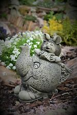 Alice's Adventures in Wonderland Stone Garden Ornament (The Dormouse)