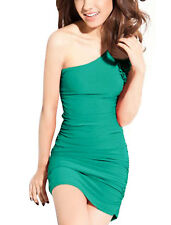 Bodycon One Shoulder Dresses with Ruffle