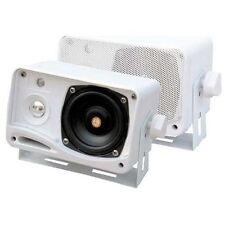 "Pyle Plmr24 3.5"" 200-watt 3-way Weather-proof Mini Box Speaker System - White"