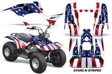 Atv Kit Grafica Quad Decalcomania Wrap per Yamaha Breeze 125 89-04 USA Flag