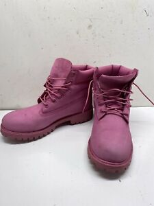 TIMBERLAND Pink Boots size 5.5 In Boys Leather Waterproof