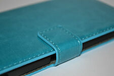 Turquoise Genuine Leather Flip Wallet Case Cover Stand For Sony Xperia Z2