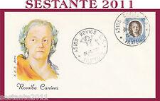 ITALIA FDC ROMA ROSALBA CARRIERA 1974 ANNULLO ROVIGO H189