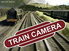 Micro CAM DEL TRENO-FERROVIE Tiny VIDEOCAMERA! Pellicola del modello ferroviario Layout!