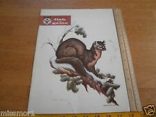 Utah Fish and game Magazine 2/1964 Clark Bronson Marten Sable Weasel cover art