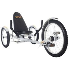 "TriTon 20"" 3 WHEEL Tricycle RECUMBENT Trike Bike Silver"