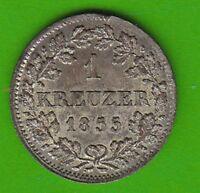 Bayern 1 Kreuzer 1855 gutes vz hübsch nswleipzig