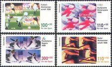Germany 1998 Sports Fund/Football/Skiing/Olympics/Paralympics/Soccer 4v (n42604)